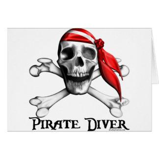 Piraten-Taucher-Karten (horizontal) Karte