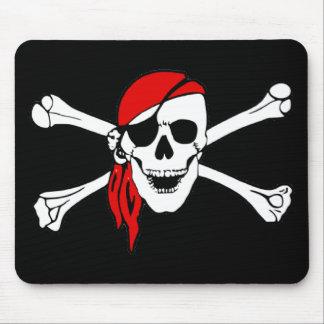 Piraten-Totenkopf mit gekreuzter Knochen Mousepad