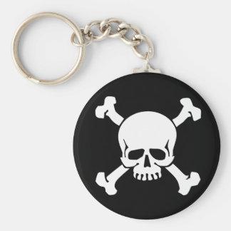 Piraten-Totenkopf mit gekreuzter Knochen Schlüsselanhänger