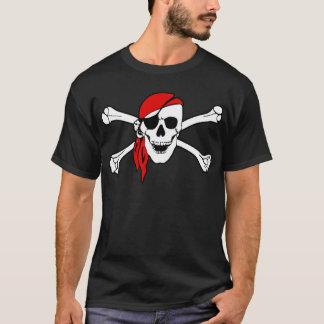 Piraten-Totenkopf mit gekreuzter Knochen-T-Shirt T-Shirt