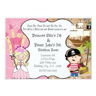 Piraten-und Prinzessin-Birthay Party Einladung