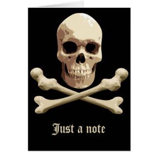 Piraten-Verein - Totenkopf mit gekreuzter Knochen Karte