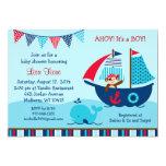 Piraten-Wal-Babyparty-Einladungen