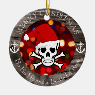Piraten-Weihnachten Keramik Ornament