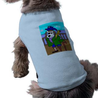Piraten-Welpe Peter und alberner Sally-Papagei Shirt