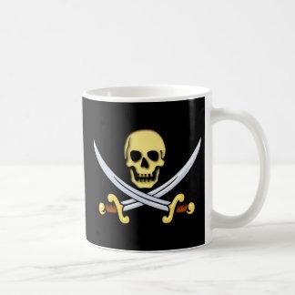 Piraten Zeichen Logo pirates sign Kaffeetasse