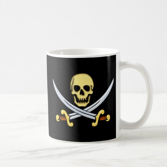 Piraten Zeichen Logo pirates sign Kaffeetasse