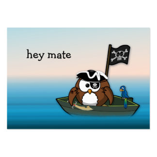 Pirateneule - Geburtstags-Party Mini-Visitenkarten