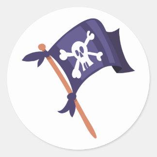 Piratenfahne Piratenflagge Runder Aufkleber