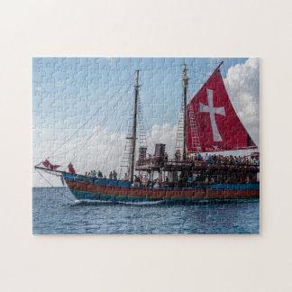 Piratenflagge Barbados Puzzle