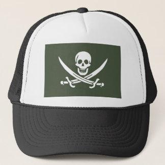 Piratenflagge des Kaliko-Jacks Rackham (Grün) Truckerkappe
