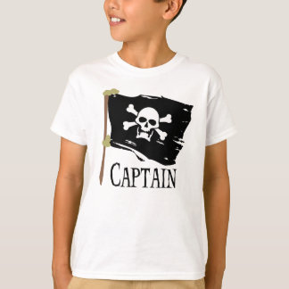 Piratenflagge-Kapitän T-Shirt