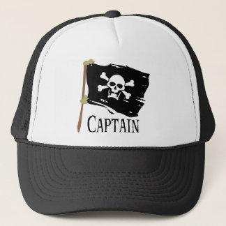 Piratenflagge-Kapitän Truckerkappe