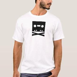 Piratenflagge-Kassetten-Band-T - Shirt