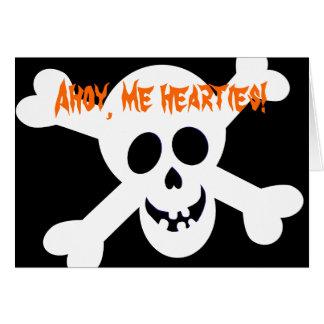 Piratenflagge-Party Einladungen