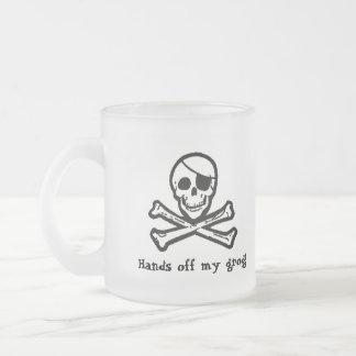Piratenflagge-Piraten-Grog-mattierte Tasse