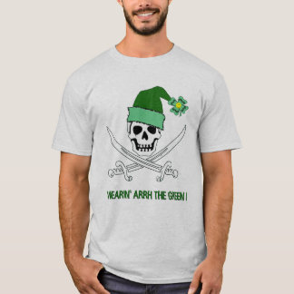 Piratenflagge-Piraten-St Patrick TagesT - Shirt