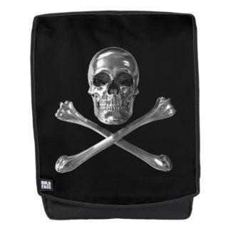 Piratenflagge-Schädel-Schrift-Rucksack Rucksack