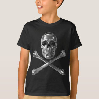 Piratenflagge-Schädel-T - Shirt