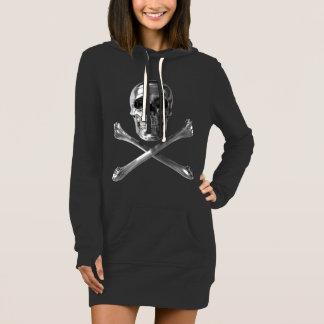 Piratenflagge-Schädelhoodie-Kleid Kleid