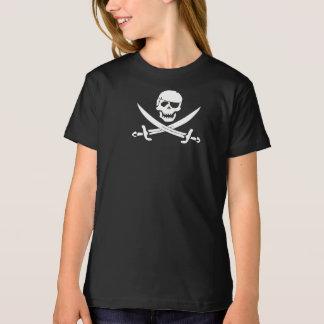 Piratenflaggemädchent-shirt T-Shirt