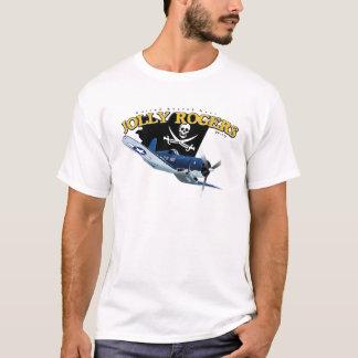 Piratenflaggen des Seeräuber-f4U T-Shirt