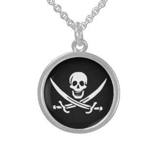 Piratenflaggepiratenflagge Sterling Silberkette