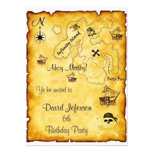Piratengeburtstag Einladung 14 X 19,5 Cm Einladungskarte | Zazzle