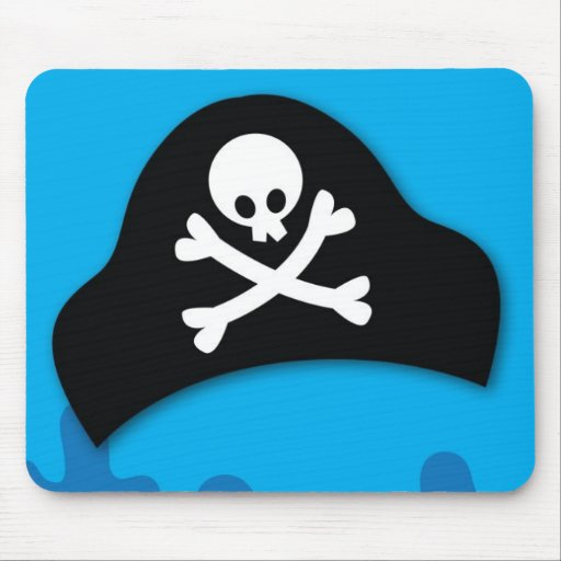 Piratenpool-Party Einladung Mousepads