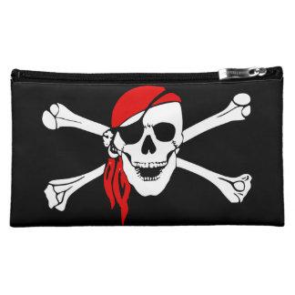 Piratenschädel- und -kreuzknochen cosmetic bag