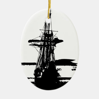 Piratenschiff Keramik Ornament