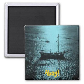 Piratenschiffsmagnet B Quadratischer Magnet
