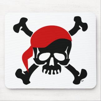 Piratjollyroger-Schädel-und Knochen-Mausunterlage Mousepads