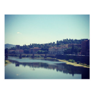 Pisa und der Fluss Postkarte