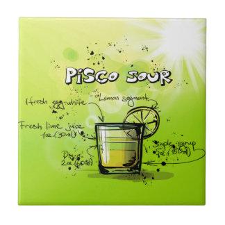 Pisco saures Getränk-Cocktail-Geschenk Keramikfliese