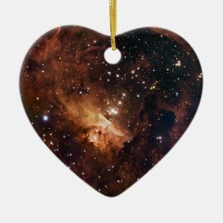 Pismis 24 die braune Sterne NASA Keramik Herz-Ornament