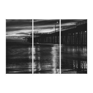 Pismo Pier-Reflexionen Leinwanddruck