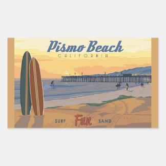 Pismo Strand Califorina Rechteckiger Aufkleber