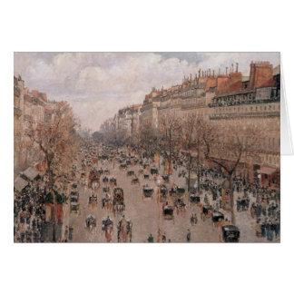 Pissarro Boulevard Montmartre Karte