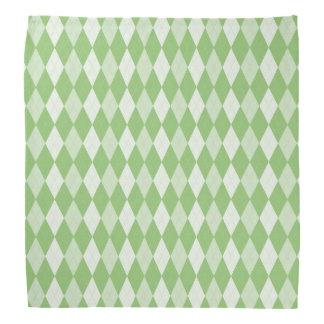 Pistazien-grüne Rauten-blasser er-grün kleiner Kopftuch