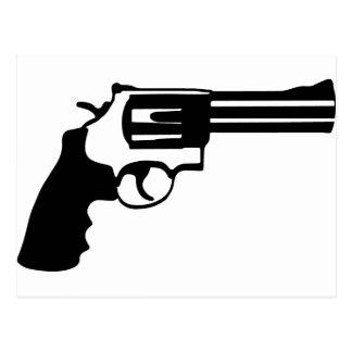 Pistole Magnum 38 spécail Postkarte