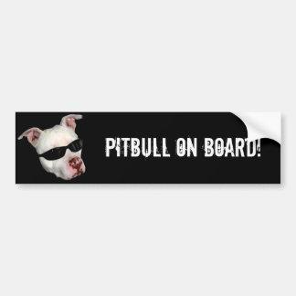 Pitbull an Bord des Autoaufklebers Autoaufkleber