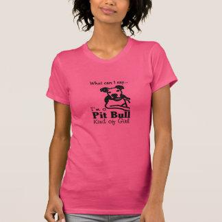 Pitbull-Art des Mädchens T-Shirt