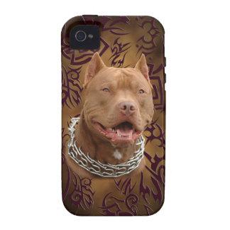 Pitbull braune Stammes- Tätowierung iPhone 4 Case