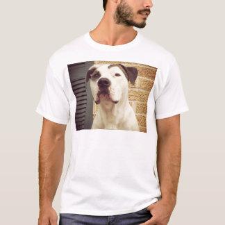 Pitbull-förmiger Knochen T-Shirt