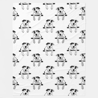 Pitbull-Knochen-Grafik Fleecedecke
