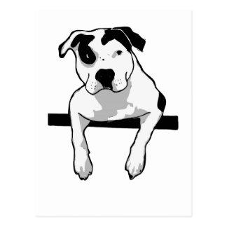 Pitbull-Knochen-Grafik Postkarte