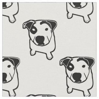 Pitbull-Knochen-Grafik Stoff