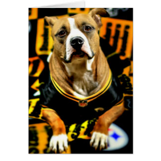 Pitbull Rettungs-Hundefußball-Fanatiker Karte