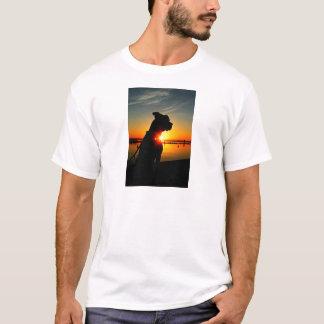 Pitbull-Sonnenaufgang T-Shirt